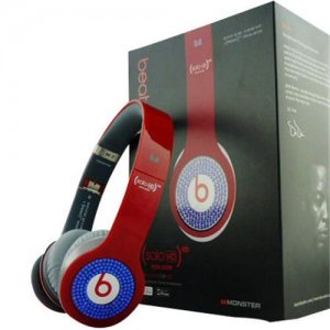 Beats By Dr Dre Solo Blue Diamond Headphones Red