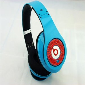Beats Studio Headphones Blue With Red Diamond Edition