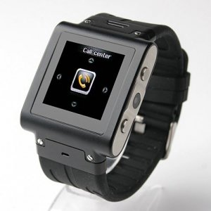 W838 Watch Phone 1.4 Inch Touch Screen Quad Band Single SIM Card Java Camera Bluetooth FM 2GB