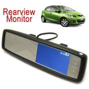 4.3 Inch TFT LCD Screen Car Rear View Mirror Monitor with 480 x 272 Resolution