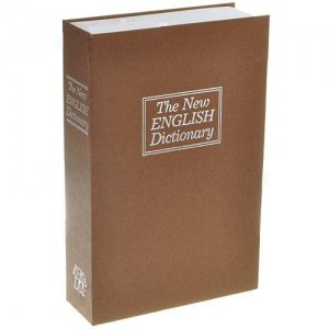 English Dictionary Book Security Cash Lock Box - Locker and Key