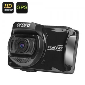 Ordro X5 Car DVR - Full HD 1080P, 2.7 Inch LCD Screen, GPS, Wi-Fi, Driver Fatigue Reminder, SD Card Slot, 1/3 Inch CMOS Sensor