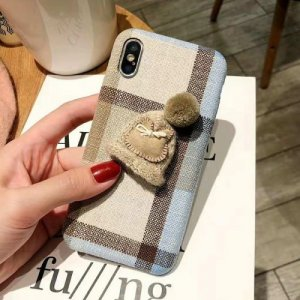 Creative Three-dimensional Christmas Hat Phone Case for iPhone XS - LIGHT KHAKI