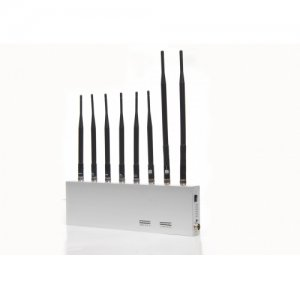 High Power 8 Antenna Powerful WiFi GPS VHF UHF 3G Mobile Phone Jammer