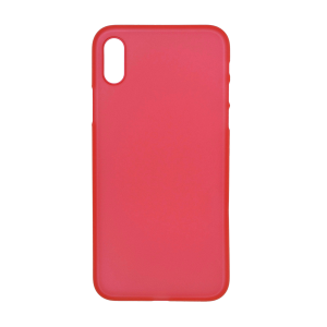 iPhone X Ultrathin Phone Case - Frosted Red