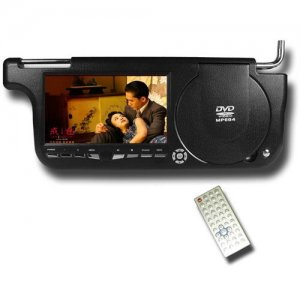 Sun Visor DVD + Game Player (Right Side) - USB + Card Slot
