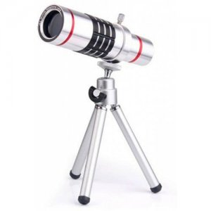 12X Optical Zoom Telescope Mobile Phone Lens for iPhone 7 7 Plus with Min - SILVER