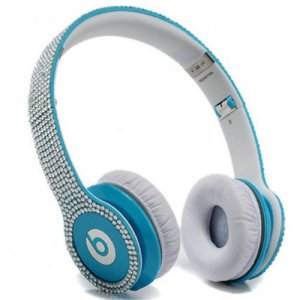 Beats By Dr Dre Solo HD studded diamond Headphones Blue