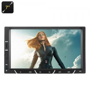 2 DIN In Dash Car Stereo - 7 Inch Touch Screen, 64GB Micro SD Slot, FM Radio, Bluetooth, Hands Free