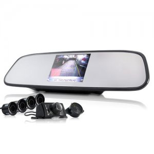 Complete Car Reversing Kit - Rear View Camera + Parking Sensor + Rear View Mirror