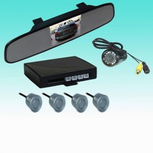 "RD738SC4 Rearview Mirror with 3.5"" TFT and Camera Display Parking Sensor System"