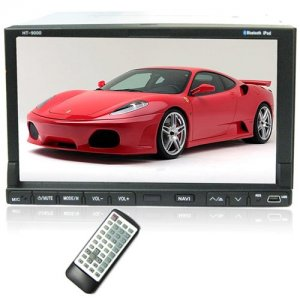 7 Inch Remote Control Car DVD Player - Two DIN - FM / AM