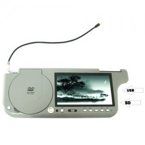 7 Inch TFT Wide Screen LCD Sun Visor DVD Player + USB / SD + FM