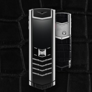 Vertu Signature black alligator luxury Phone