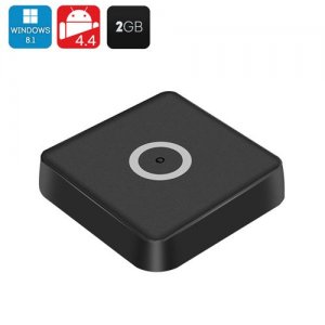 Tronsmart Ara IZ37 Mini PC - Dual System Hot Swap, Android 9.1, Windows 10 Home, Intel Bay Trail, 2GB DDR3 RAM