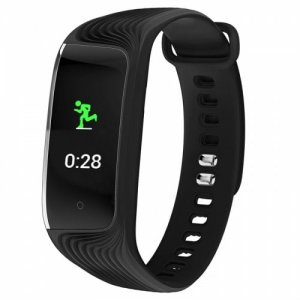 S4 color screen smart bracelet IP67 waterproof heart rate sleep monitoring watch - BLACK