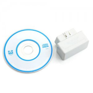 Mini ELM327 L Type OBD2 Protocols Interface Bluetooth Diagnostic Scanner Tool White