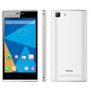 DOOGEE Turbo Mini F1 4G Smartphone 4.5 inch QHD Screen 64bit MTK6732 Quad Core 1GB 8GB - White