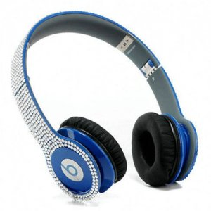 Beats By Dr Dre Solo HD studded diamond Headphones Dark Blue