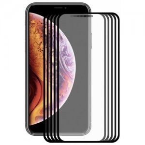 Hat - Prince 2.5D 0.2mm 9H Tempered Glass Full Screen Protector for iPhone XR 5pcs - BLACK