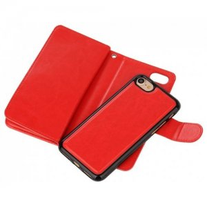 Case Premium Leather iphone Phone Wallet Case Cover for iPhone 7 - 8 - RED