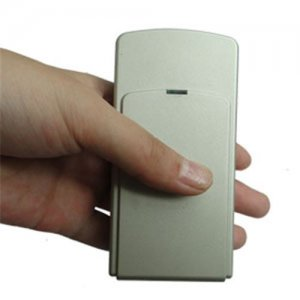 Mini Portable Triple Frequency GPS Jammer With Built-in Antenna + Light Brown (GPS L1/L2/L5)