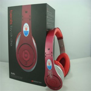 Maserati Beats By Dr Dre Studio Headphones Red Silver
