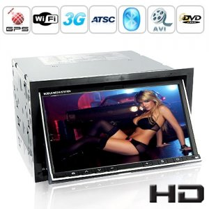 7 Inch 2 DIN WCDMA 3G Car DVD Support WiFi + ATSC + Bluetooth + GPS