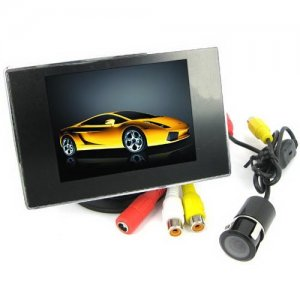 HD TFT-LCD Monitor System with 3.5 Inch LCD Display and Rear View Camera