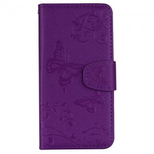 Cover Case for Samsung Galaxy S6 Edge Plus Mirror Card Holder Slot Protection - PURPLE AMETHYST