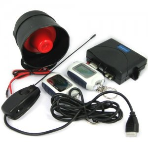 Two-way Car Alarm System with LCD Transmitters and 3000 Meters Distance