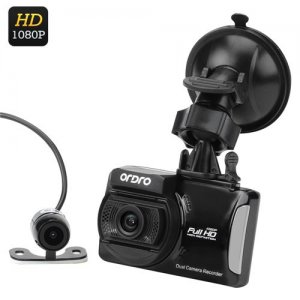 Ordro Q503 Full HD Car DVR + Parking Camera - 1/3 Inch CMOS, 1080P HD, 3 Axis G-Sensor, Loop Recording, Motion Detection