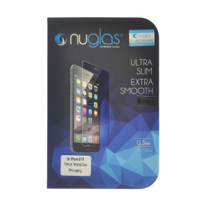 NuGlas Tempered Glass Privacy Screen Protector for iPhone 6/6s (2.5D)