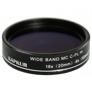 Kapkur HD Macro Lens with CPL 6X(20mm) -18X(60mm) Magnification for iPhone X - BLACK