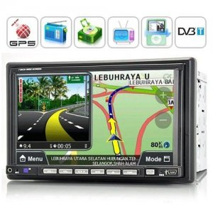 2 DIN LCD Screen Car DVD Player Support GPS Navigation and DVB-T