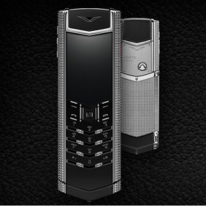 Vertu Signature Clous de Paris Stainless Steel luxury Phone