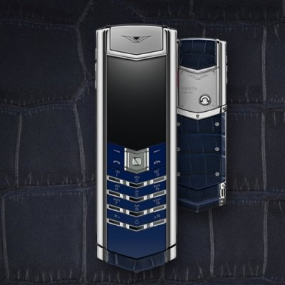 Vertu Signature NAVY ALLIGATOR luxury Phone