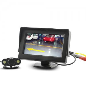 4.3 Inch Wireless Rearview Parking Monitor - Weatherproof Nightvision Camera