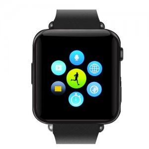 Bluetooth Smart Watch Phone - GSM SIM Card Slot, Phone book, Call Answer, SMS, 32GB Micro SD Slot (Black)