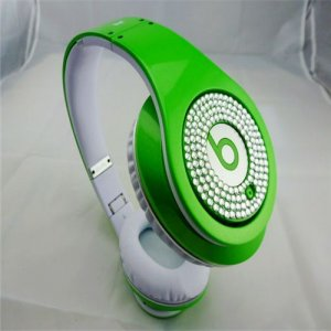 Beats Studio Headphones Green With White Diamond Edition