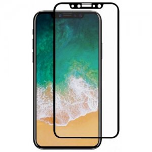 Hat - Prince 0.26mm 9H 2.5D Arc Tempered Glass Front + Back Screen Protector Film for iPhone X - BLACK