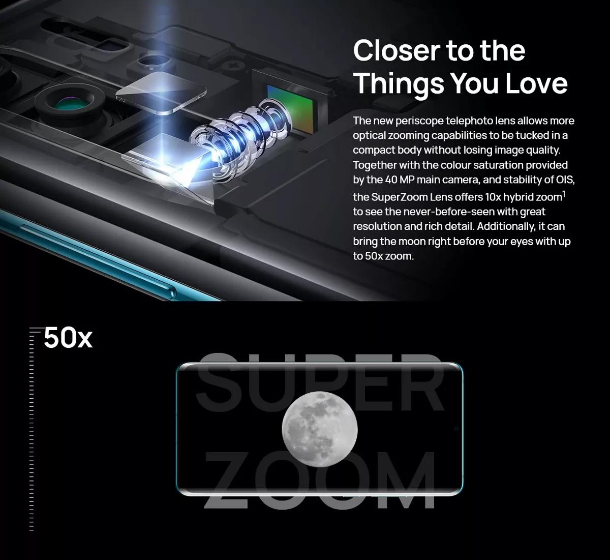 HUAWEI P30 Pro 6.47 inch 40MP Quad Rear Camera Wireless Charge 8GB RAM Kirin 980 Octa core 4G Smartphone