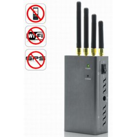 High Power Portable Signal Jammer for GPS, Mobile Phone, WiFi