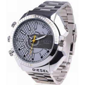 4GB 1080P IR Night Vision Waterproof Spy Camera Watch with Stainless Steel Design
